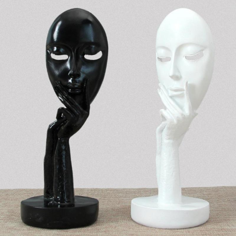 held mask decorative figure. Black Bedroom Furniture Sets. Home Design Ideas