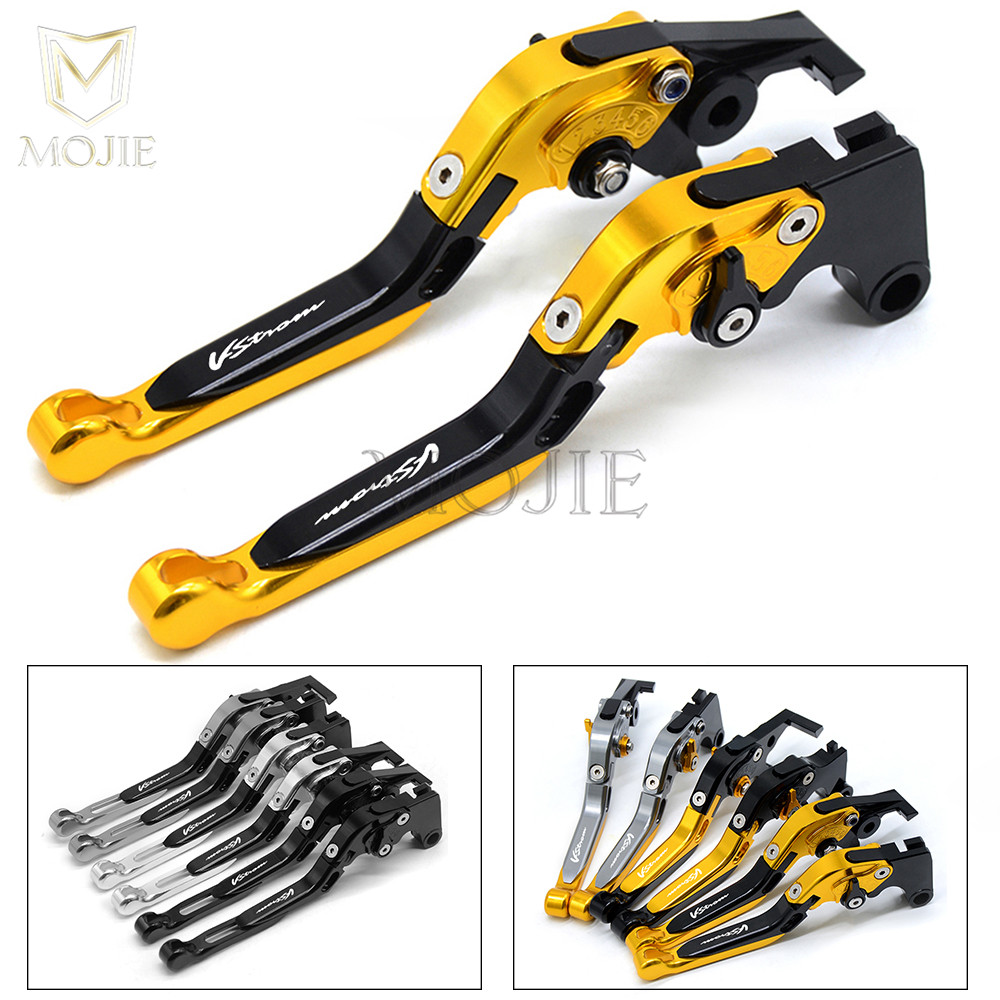 DL1000 V STROM For SUZUKI DL 1000 DL1000 V STROM 2002 2016 Motorcycle Accessories Folding Extendable Brake Clutch Levers Set-in Brake Disks from Automobiles & Motorcycles    1