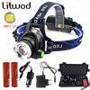 Litwod Z30568DL2 LED Headlamp Aluminum Zoom XM L L2 Zoom Led Headlight Head Flashlight Adjustable Head
