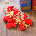 Charming red hairgrip pearl women hair clips high quality butterfly hairpins bridal hairwear wedding accessories Gifts