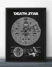 Blueprint posters promotion shop for promotional blueprint posters star wars death star blueprint wall art paint prints canvas art poster oil paintings for living malvernweather Gallery