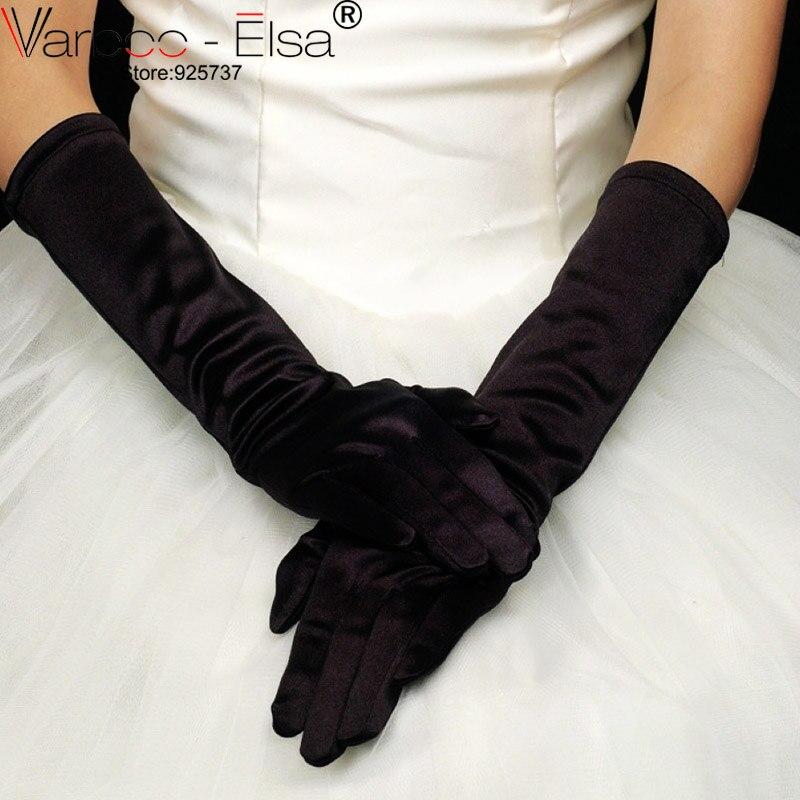 Evening dress gloves satin