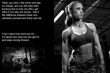 Girl Sexy Muscle Bodybuilding Fitness Motivational Art  Poster 40x60cm