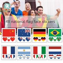 48 Flag Series Face Stickers World Cup Fan Games Olympics Festivals Multiple Countries Temporary Tattoo Sticker flag football world cup body tattoo stickers