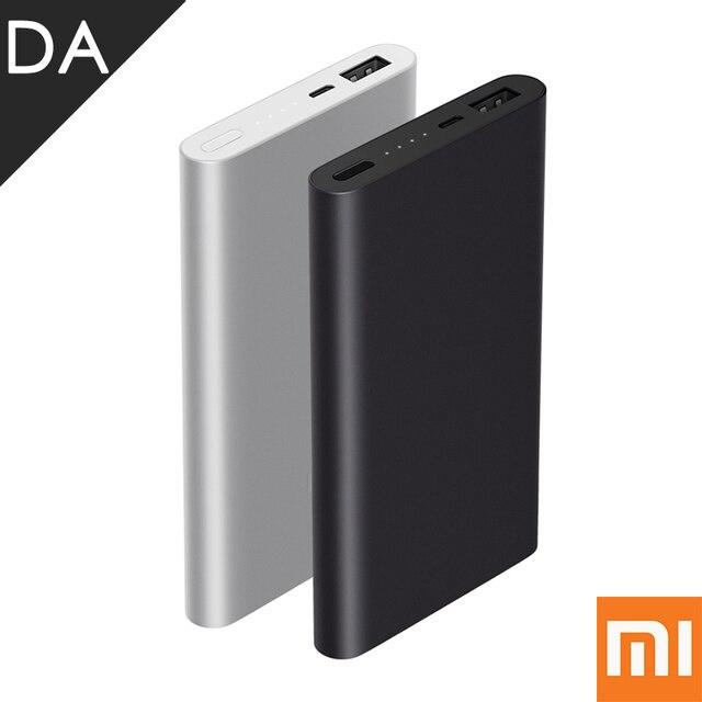 Оригинал Xiaomi Power Bank 2 10000 мАч Pro Quick Charge 2.0 Powerbank Тонкий Mi Портативный Литий-Полимерный Внешняя Батарея 2 Gen
