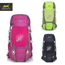 AMEISEYE  Water-resistant Backpack Backpacking Trekking Bag Lightweight  Travel Mountaineering Rucksacks 40L