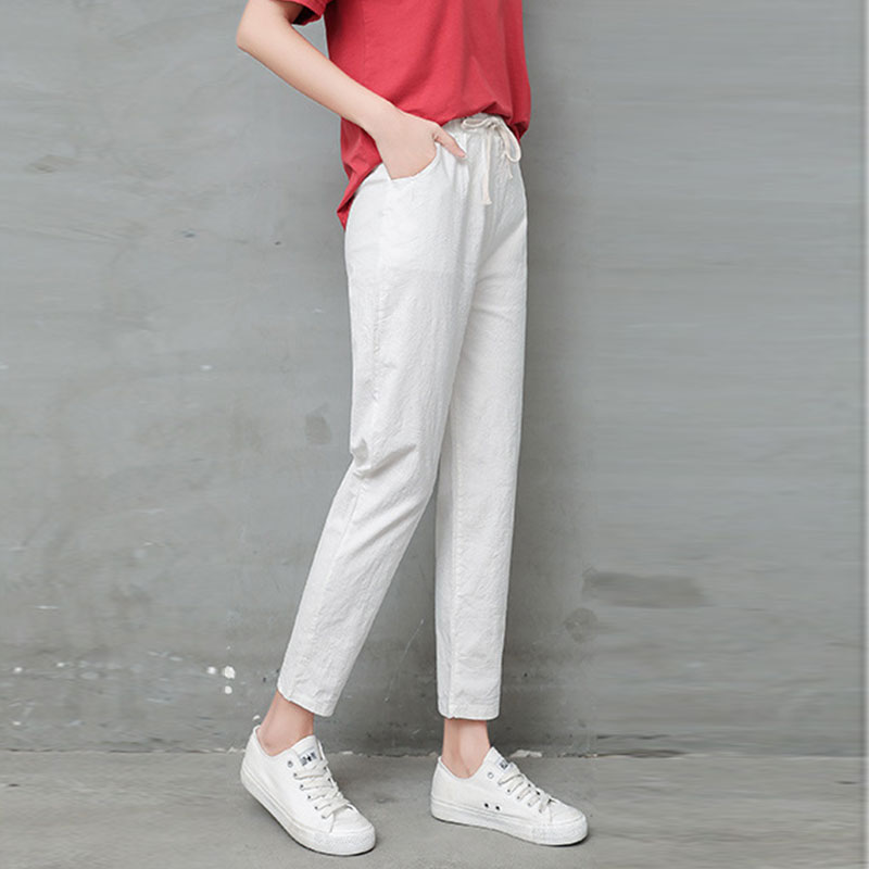 Spring Autumn Fashion Full Length Pants Trousers Women Casual Loose Harlan Pants Female High Waist Slim Pants Ladies Pants
