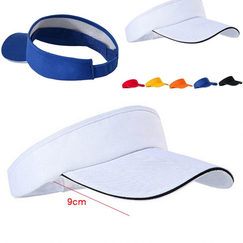 9419b2b9 2019 Hot Unisex Empty Top Visor Cap Women Sunscreen Hats Man Cotton Cap  Adjustable For Running