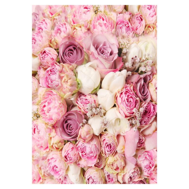 Pink Rose Flowers Photography Background 90*150cm/150*210cm Floral Photo Backdrops For Studio Wedding Photos Props Family Decor