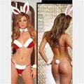 2017 Sexy Three-point Bikini Christmas Bunny Costumes New Arrival Party Xmas Disfraces Nightclub Role Play Christmas Costumes