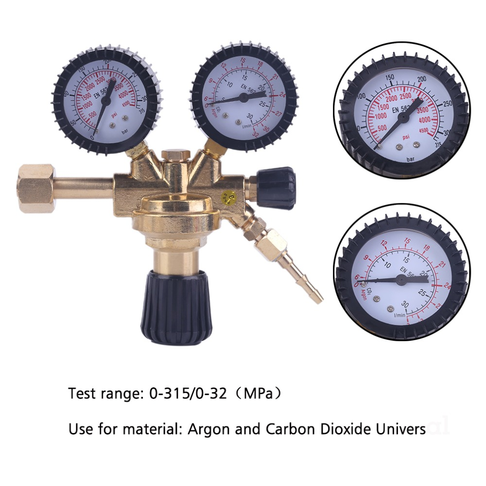 Universal Carbon Dioxide Pressure Reducer Professional Non-Heating Design CO2 Valve Regulator Gas Pressure Regulator factory direct carbon dioxide gas welding gas mixture co2 pressure reducer heating accessories table gh100