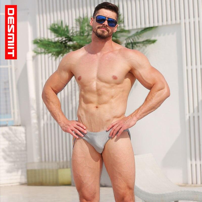 Desmiit Swimwear Men Swim Briefs Sexy Bikini Man Swimsuits Beach Mens Swimming Suit Bathing Short Sea Board Surf Sunga