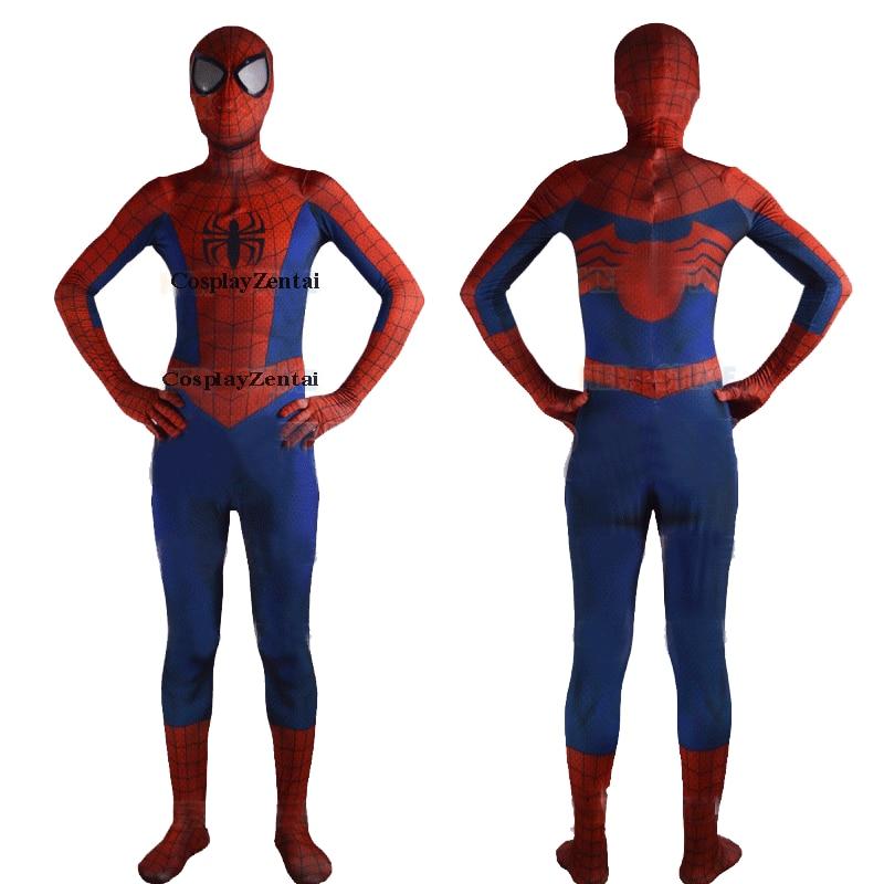 ᗖNuevo ojo gafas 3D patrón sombra Spiderman Cosplay traje de ...