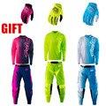 2017 nueva caliente de jersey + pants mtb mx motocross traje moto tld gp set combo zorro motocicleta bicicleta de carreras de montaña traje