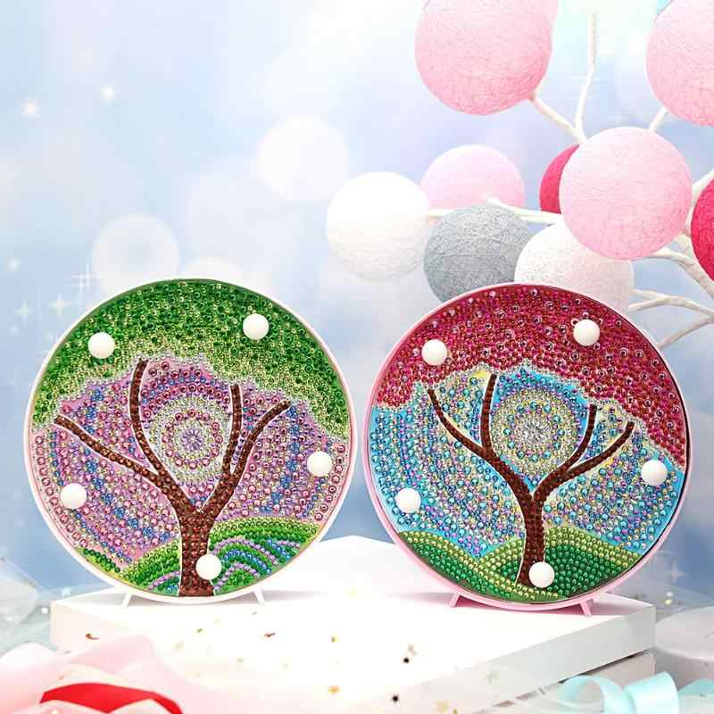 DIY Diamond Painting Light Special Full Drill LED Night Light Lamp Christmas Decoration for home