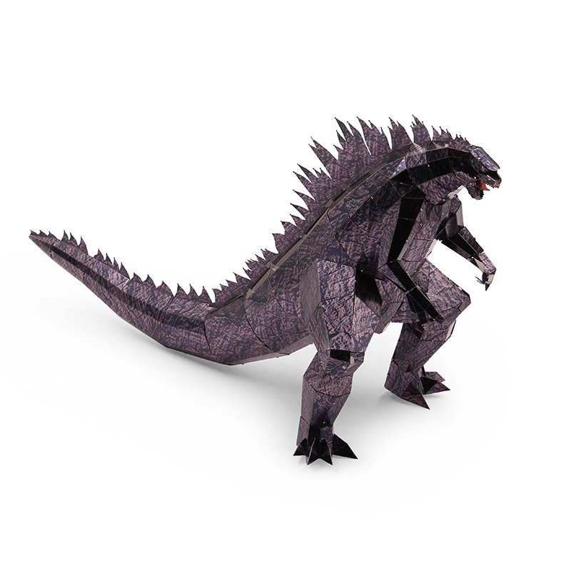 MMZ MODEL Microworld 3D Metal Puzzle Behemoth Godzilla Monsters Assemble Model Kits Z013 DIY 3D Laser Cut Jigsaw Toys For adult mu bumblebee t6 diy 3d metal puzzle assemble model kits laser cut jigsaw toys ym l066