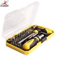 Rdeer 29 pçs conjunto chave de fenda tipo roda catraca CR V ponta magnética precisão multifuction ferramentas manuais|hand tools|screwdriver settool tool -