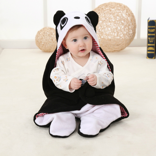 nette karikatur tier neugeborenes baby schlafsack h lt wrap blanket schlafsack umschl ge f r. Black Bedroom Furniture Sets. Home Design Ideas