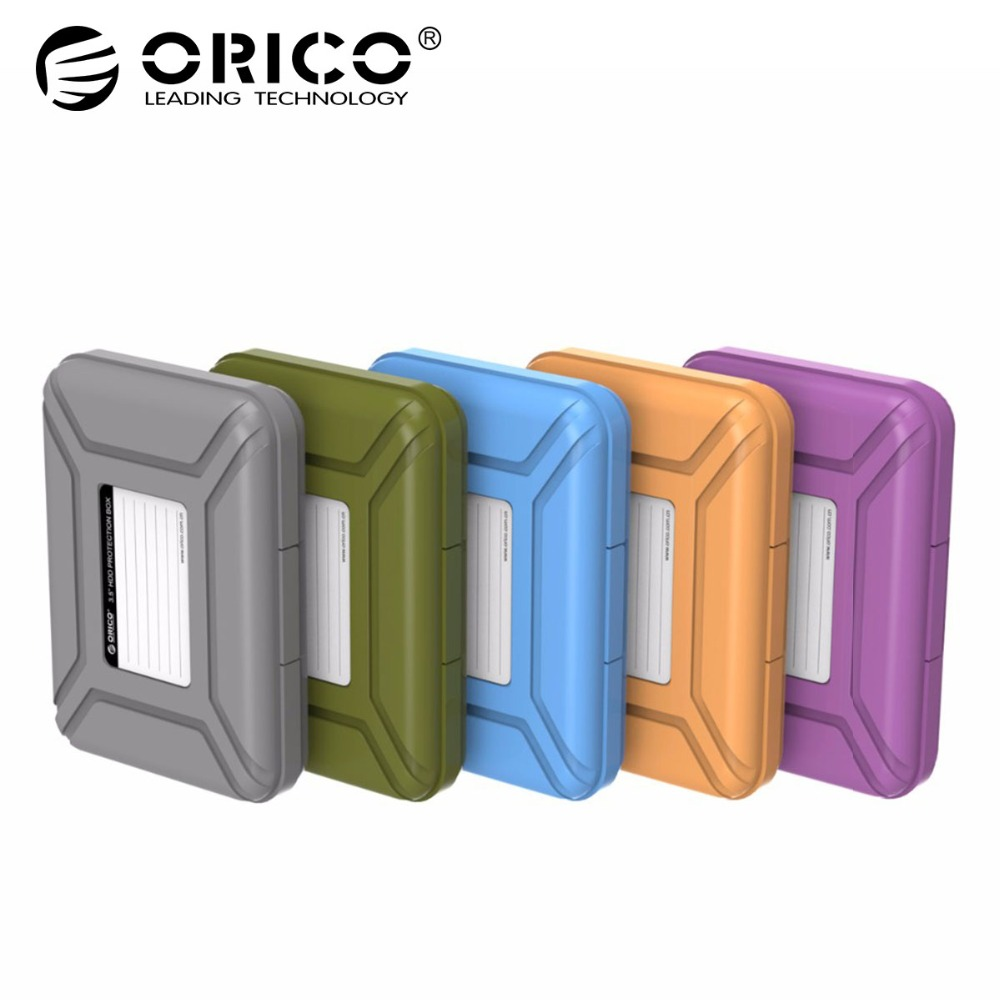 ORICO PHX-35 Simple HDD Protection Box Case Cover for 3.5 Inch Hard Drive Case Waterproof Function Portable Hard Disk Box bsc35 05 3 5 inch shockproof carrying hard drive protective storage case box with lock 5 bit aluminum hard disk protection box