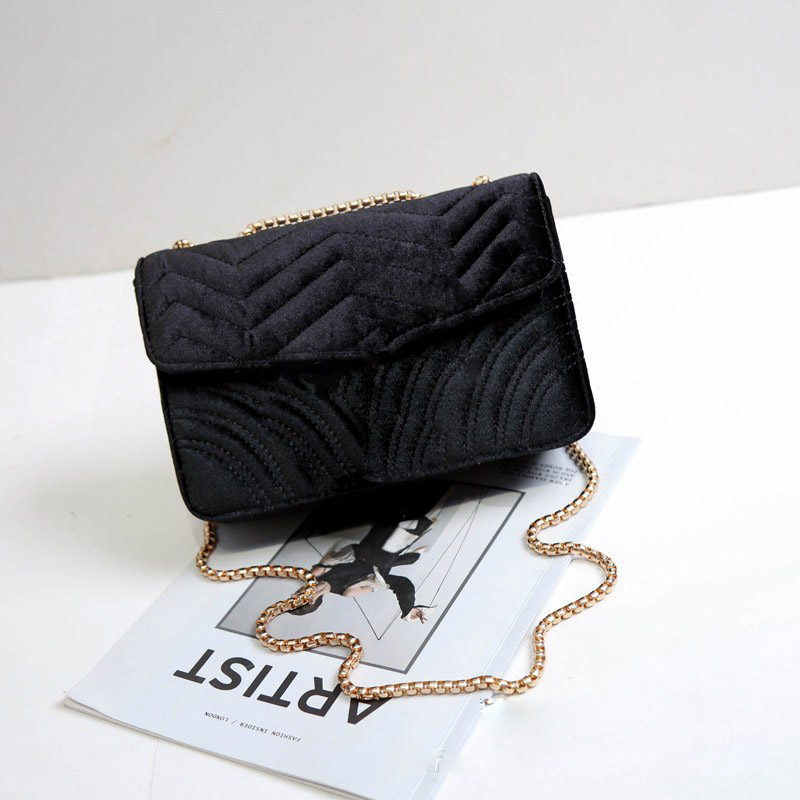 Velvet Bag Lady with Diagonal Chain Small Square Bags Women Handbag Sequined Shoulder Strap Bag Crossbody Bags GirlVelvet Bag Lady with Diagonal Chain Small Square Bags Women Handbag Sequined Shoulder Strap Bag Crossbody Bags Girl