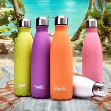 Kreative Bunte 500 ml Swell Cola-flasche Edelstahl Isolierung Vakuumflasche Kaffee Tasse Wasser Flasche