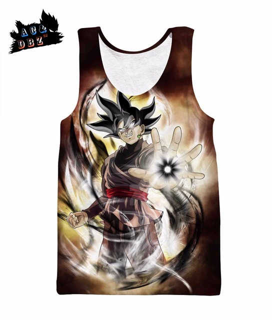 065df2643ae62 AC DBZ new men s and women s sleeveless tops Super Saiyan Hei Goku 3D  printing Tank Tops summer Harajuku fashion sleeveless vest