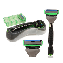 1 Holder + 2 Pace 6 Blades Manual Shaver Safety Razor Kapper Men Shaving Zinc Alloy + Stainless Steel DORCO Shaving Knife Set