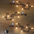 Industrial de Loft Lâmpadas de Parede Antigo luzes de Parede com Lâmpadas de Edison E27 110 V-220 V Lâmpada Da Parede do Tubo Do Vintage para Sala de estar Iluminação