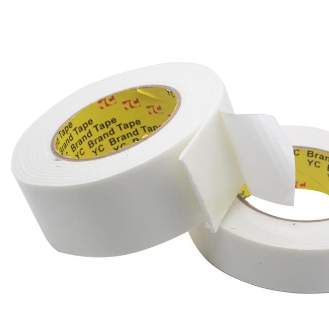 3M 5M 10 100 Mm Super Sterke Dubbele Geconfronteerd Plakband Foam Dubbelzijdige Tape Zelfklevende pad Voor Montage Bevestiging Pad Sticky