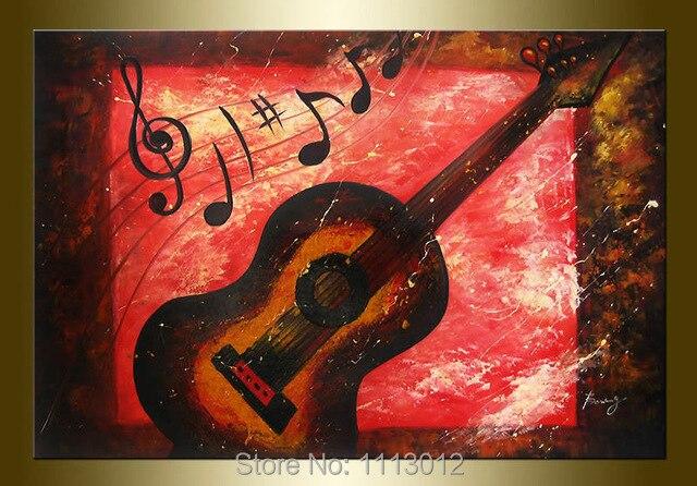 Popular Guitar Oil Painting-Buy Cheap Guitar Oil Painting