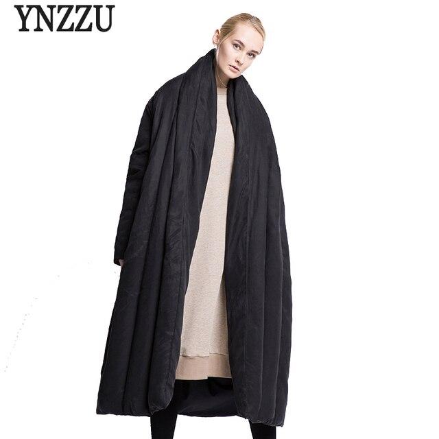 4c4149f553171 YNZZU marque de luxe veste d'hiver femmes Style européen Extra Long couette  chaude lâche