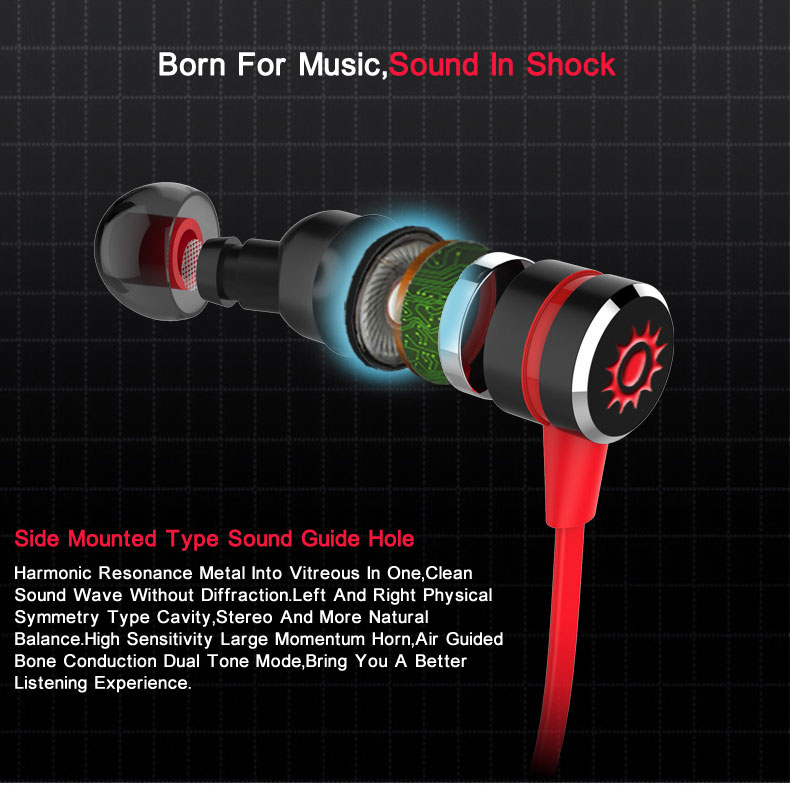Plextone BX335 Bluetooth Earphone Wireless With Microphone Metal Magnetic Stereo Gaming Headset For Phone Sport Fones De Ouvido
