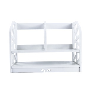 Image 3 - 2 Tiers DIY Shelving CD Book Storage Box Unit Display Bookcase Shelf Home Office Book Display Storage Unit Bookcase Shelf