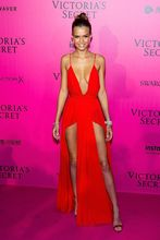 2017 Sexy inspiriert von victorias Secret Roter Teppich-kleid Sexy Tiefem V-ausschnitt Seitenschlitz Abendkleid kleid