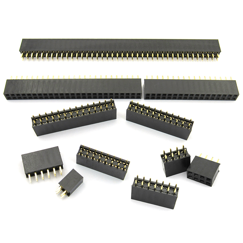 2.54mm Double Row Female 2~40P Breakaway PCB Board Pin Header socket Connector Pinheader 2*2/3/4/6/10/12/16/20/40Pin For Arduino 10pcs lot dc3 40p 40pin dc3 40p 2 54mm socket header connector isp male double spaced straight idc jtag