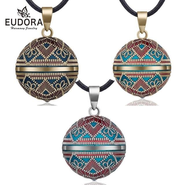 Eudora 20mm Vintage Meksika Bola Harmony Chime Topu Melek Arayan Gebelik Kolye Kolye Kadınlar için moda takı N14NB319