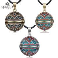 Eudora 20mm Vintage mexicano Bola Harmony Chime Bola Ángel llamador embarazo colgante collar para mujeres joyería de moda N14NB319