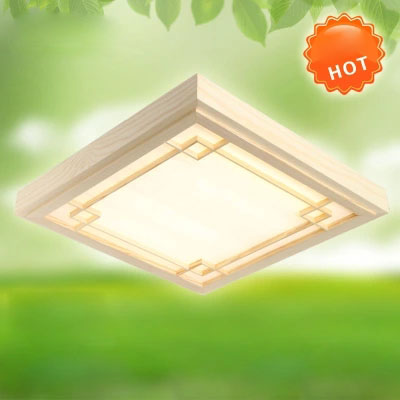 Ultra thin LED OAK Wood ceiling lamp vintage square ceiling light Surface Mounted wooden light fixture luminarias para teto dhl ship 18w surface mounted led downlight round panel light smd ultra thin circle ceiling down lamp kitchen bathroom lamp