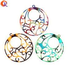 Cordial Design 50Pcs 38x41MM Jewelry Making/Hand Made/DIY Parts/Round Flower Shape/Earring Accessories/Earring Findings