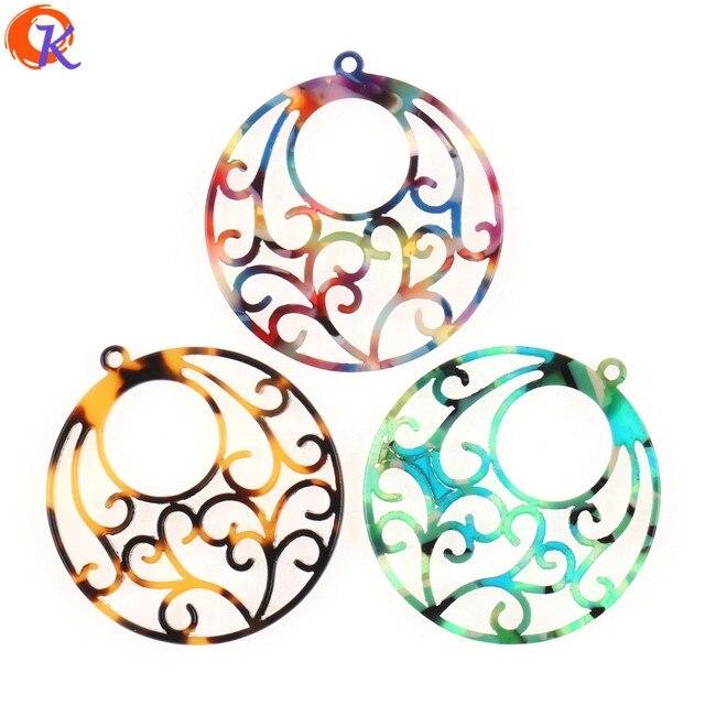Design cordial 50 pçs 38x41mm fabricação de jóias/feito à mão/peças diy/forma de flor redonda/brinco acessórios/brinco descobertas