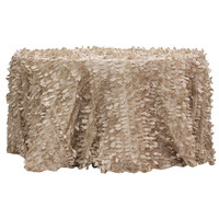 Leaf petal taffeta wedding tablecloth for table round 120 5 pcs/lot