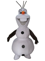 Smiling Olaf Mascot Costume Cartoon Character Costume Free Shipping for Halloween