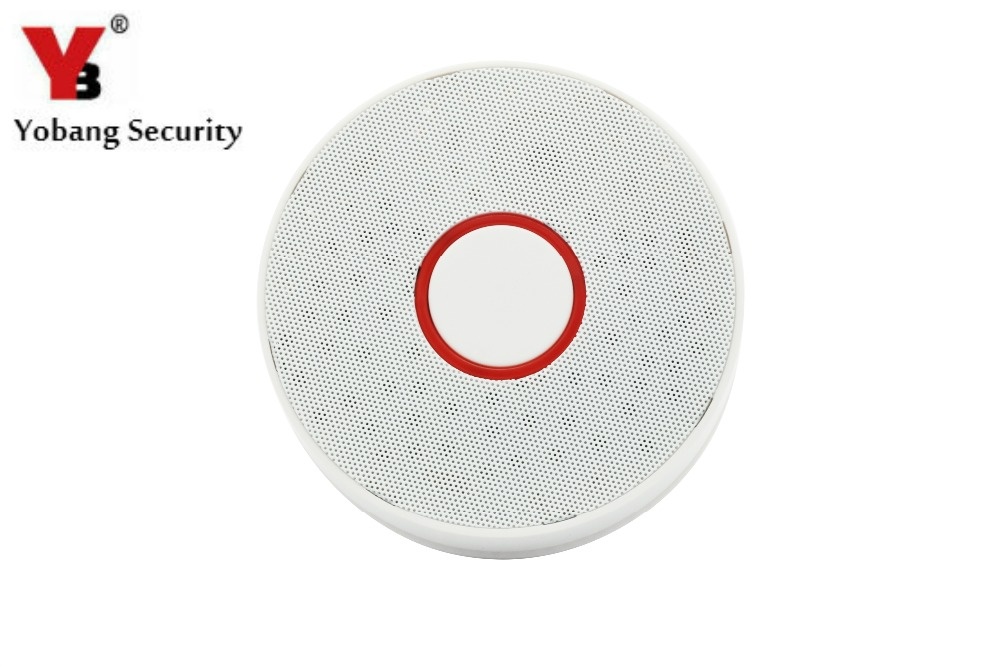 YobangSecurity Smoke Detector Sensor Home Security Fire Alarm Smoke Detector Independent Smoke Alarm Sensor yobangsecurity high sensitivity photoelectric smoke detector fire alarm sensor for home security independent smoke sensor white