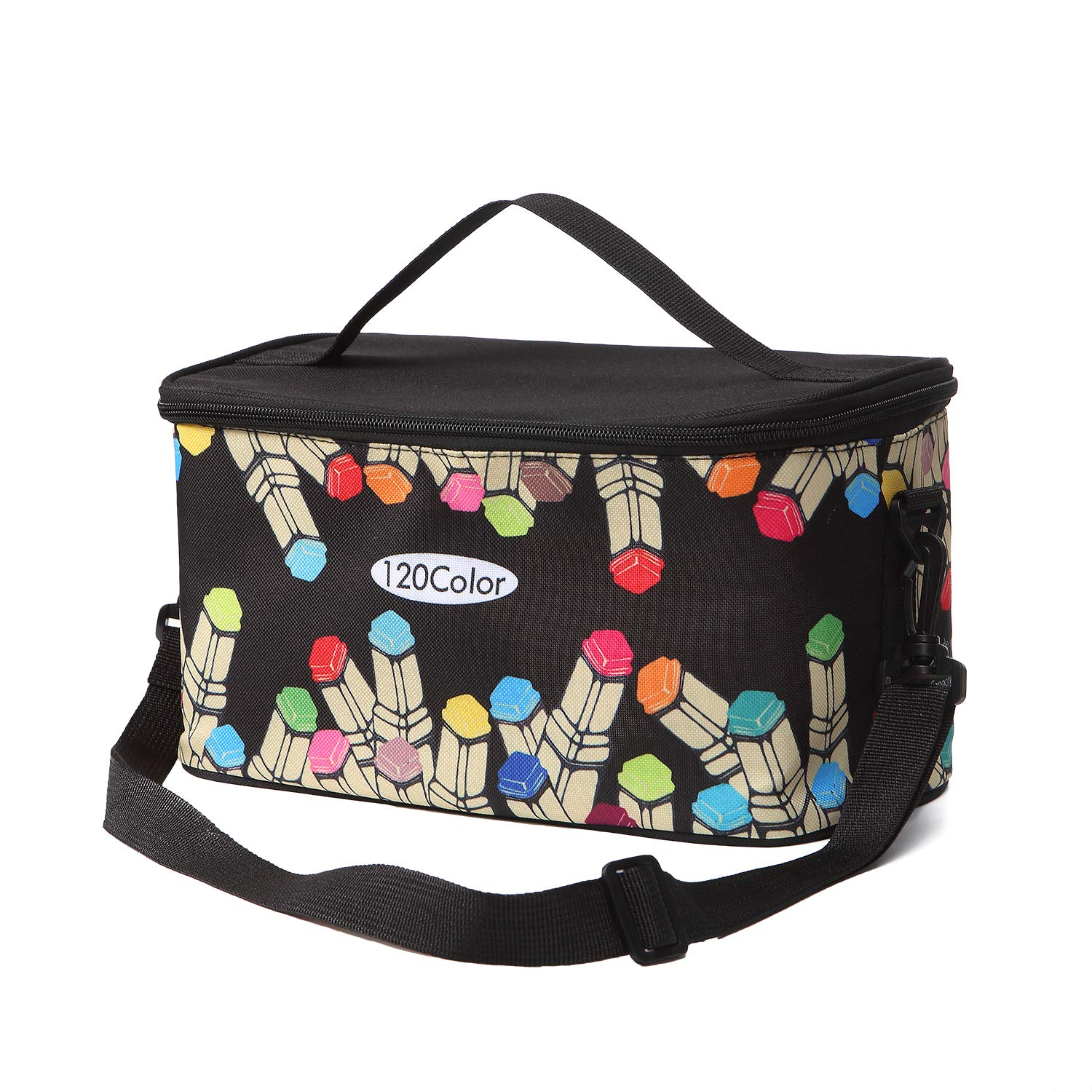TOUCHFIVE New Marker Pen Case Holder Large Capacity School Bag 120 Markers Organizer Multifunctional Zipper Storage Carrying BagPencil Bags   -