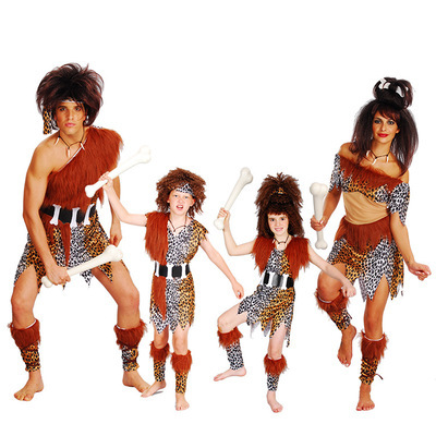Halloween cos adult wild dress children's performance clothing, Indian savage costume wild man clothes women leopard Print Skirt
