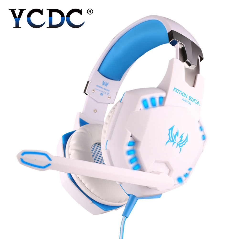 G2100 3.5mm Expert Headset Pro Gaming Headphone For PS4 Laptop USB Lights Blue / Black / Red / white