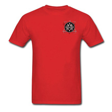 Leisure Red Tops & Tees Get Coupons Short Sleeve Mens Tshirts Geometrical Lotus Symbol Indian OM T Shirt Adult