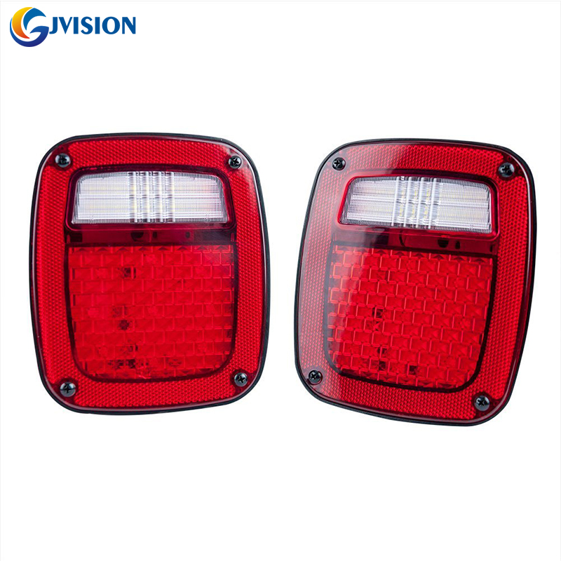 2x Trailer LED Tail Brake Turn Signal Reverse License Lights Lens for Jeep TJ xuankun off road motorcycle modified led taillights turn lights brake lights license plate tail lighthouse