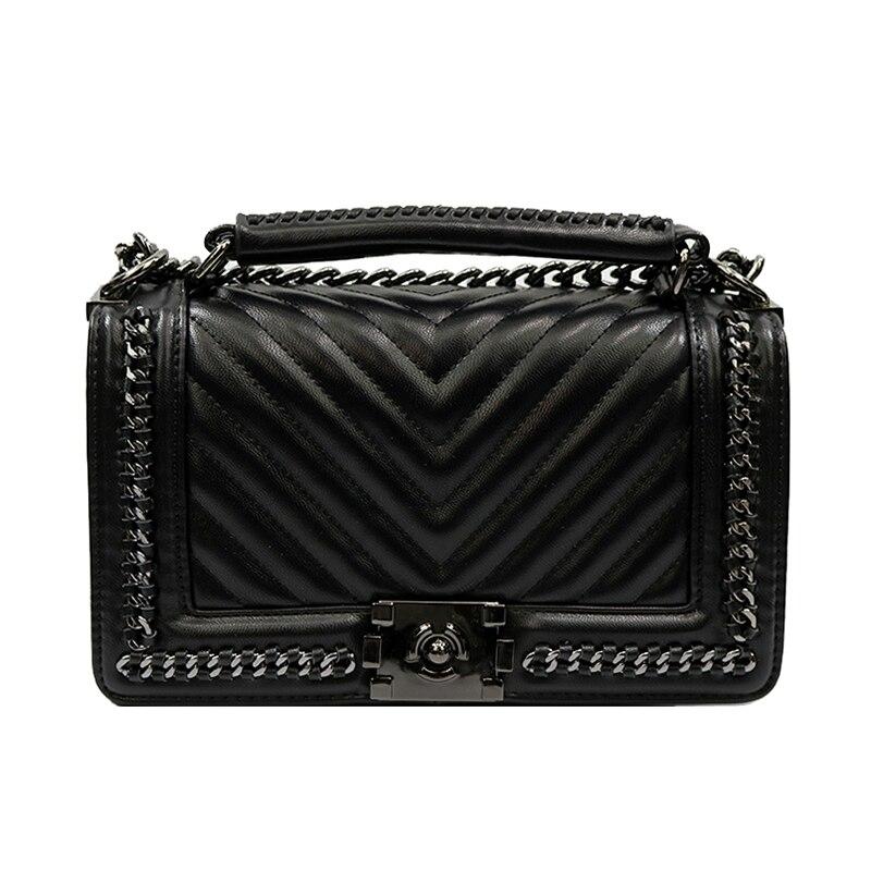 2017 larga cadena Crossbody bolsos para las mujeres bolsos de diseño de alta calidad bolsos de lujo mujeres bolsos diseñador bolso de hombro
