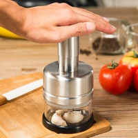 Stainless Steel Vegetable Garlic Onion Chopper Slicer Cutter Dicer Silver